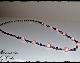 Ladies pink, purple necklace