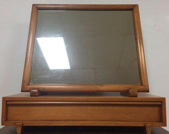 Mid Century Maple Dresser Mirror