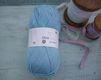 Rico Baby So Soft DK Yarn Light Blue 007