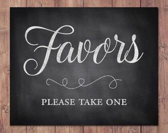 Wedding Favors sign - Favors please take one - Rustic Favors sign - PRINTABLE - 5x7 - 8x10