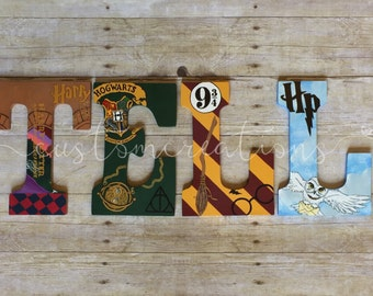 Harry Potter hand painted letters