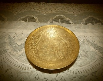 Brass Etched Bowl