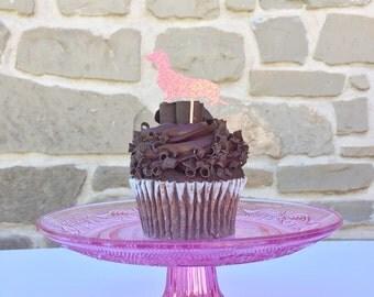 Wiener Dog/ Dachshund cupcake topper!