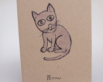 Greeting Card- Meow