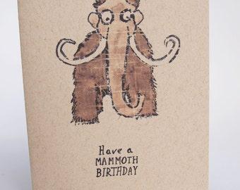 Greeting Card - Mammoth birthday