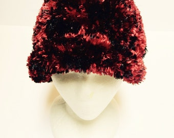 Cardinal red hat with matching cowl