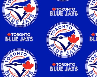MLB - Toronto Blue Jays - Polyester Fleece - licensed major league baseball print maple leaf blue
