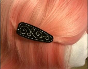 Swirl Felt Hair Clip