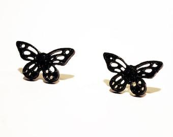 Earrings Black Butterflies