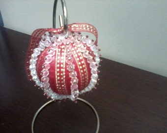 Christmas Ornament - Red with Gold