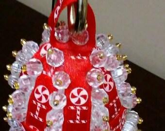 Christmas Ornament - Egg - Red with HoHoHo