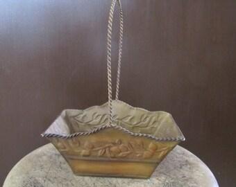 Basket, DIY Gift Basket, Metal Basket, Antique Style Basket, Home Decor, Bathroom Decor