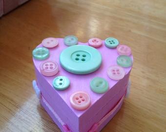 Pink trinket box
