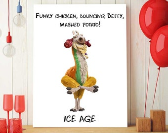 Ice Age Party Decor, Ice Age Shangri Llama Quote, Ice Age Printable, Ice Age Birthday Prop, Kids Ice Age Decorations