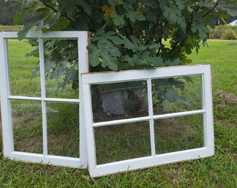 Vintage antique 4 four pane window sash frame farm house wedding set