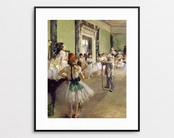 Edgar Degas - The Ballet Class - Giclee - Degas Print - Ballet  Art - Dance Art - Gift for Dancer - Girls Room Decor - Paris - Wall Art
