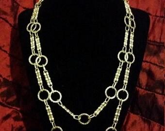 Tibetan Silver Double Strand Necklace