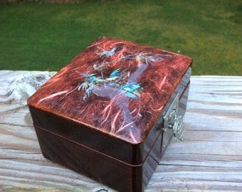 Lacquerware Keepsake Box Pearl Enlay