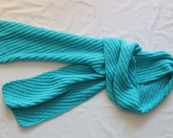 Turquoise handknit Scarf