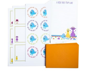 Personalised Monster Writing Set