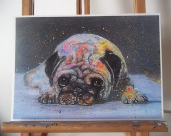 Pug Dog Artwork Print
