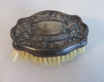Vitage Silver Brush with Ornate Design