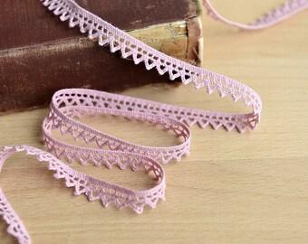 Pink Crochet Edging - 10 meters