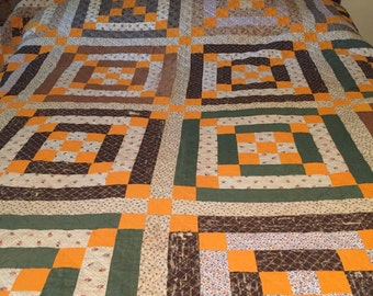 Antique autumn hue quilt