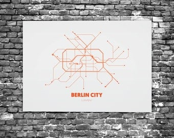 Berlin City - Acrylic Glass Art Subway Maps (Metrokaart, Acrylglas) (C1 - C5)