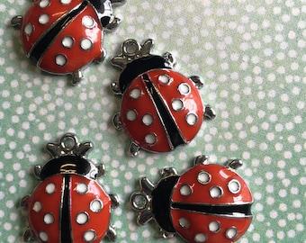 Lady bug pendant [4 pieces]