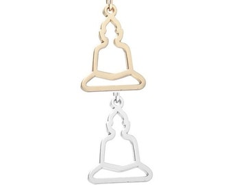 Yoga pose (SIlver or Gold tone) [5 pieces]
