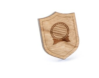 Barrel Lapel Pin, Wooden Pin, Wooden Lapel, Gift For Him or Her, Wedding Gifts, Groomsman Gifts, and Personalized