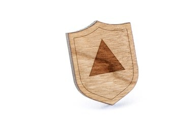 Isosceles Triangle Lapel Pin, Wooden Pin, Wooden Lapel, Gift For Him or Her, Wedding Gifts, Groomsman Gifts, and Personalized