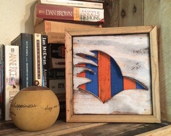 UTSA Roadrunner Silhouette Reclaimed Wood Wall Art