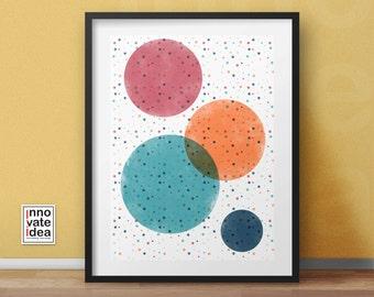 Circle Art Print, Printable Circle , Circle Print, Instant Download, Printable Home Decor, Digital Print
