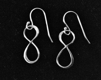 Sterling Silver Infinity Earring - Australian Seller