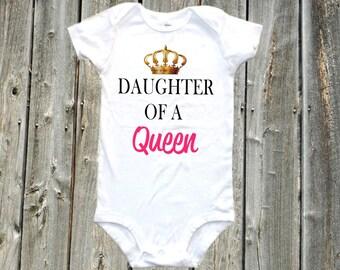 Daughter of a Queen Baby one-piece bodysuit shirt