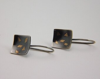 "Silver / Gold - Earrings ""Rain of gold"""