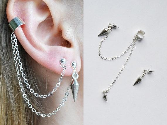Ear Cuff Chain Ear Cuff Pierced Ear Cuff Jewelry Ear Cuff Wrap Gifts Ear Cuff Piercing Romantic Jewelry Boho Jewelry Fashion Jewelry