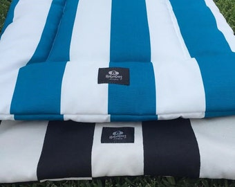 Nautical,Water Resistant, Blue & White Striped,Dog Crate Bed,Pet Beds, Puppy Bed