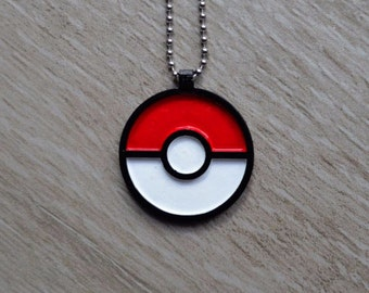 Pokemon Pokeball Necklace Pendant