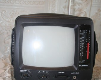 "Olympia Portable 5.5"" Black and White Television"