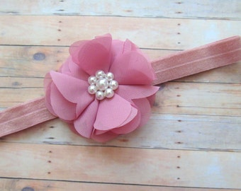 Baby Girl Headband, Shabby Chic Baby Headband, Baby Girl, Newborn Headband, Toddler Headband,Baby Bows,Baby Hair Bows,  Baby Photos Headband