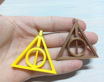 2 x Deathly Hallows Rotating Pendant Harry Potter