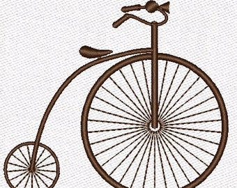 Machine Embroidery Designs Bike Retro Bicycle