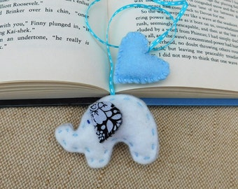 Elephant Bookmark, Book Lovers Gift, Gifts for Children, Bookworm Gift, Cute Bookmark, Teacher Gift, baby elephant
