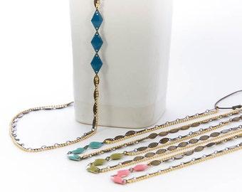 Headband Solanja, jewel of head, hair, hairstyle, blue, green, pink, bronze, retro, gilt fine gold