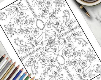 Printable Colouring Page Pretty Things