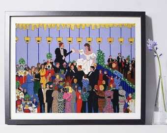 Jewish Wedding Art Painting PSNY - Home Decor