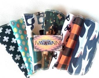 10 Cloth Wipes, BOYS, Random Selection, reusable wipes, eco-friendly, baby wipes